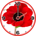 Red Poppy Clock