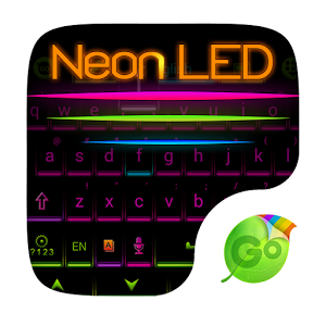 Neon LED GO Keyboard Theme