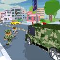 Blocky Army City Rush Racer