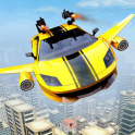 Flying Car Transform Robot Shooting Game
