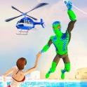 Amazing Frog Rope Man hero: Miami Crime city games