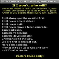 GLORY POWER to stir you up!