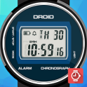 DROID Retro LCD watch face for WatchMaker Premium