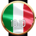 Animated Italy Flag Watch Face