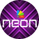 XNeon-Purple Theme for Xperia