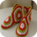 ideias crochet chinelo