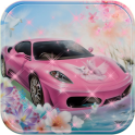 Theme Pink Lamborghini car