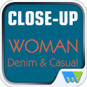 Close-Up Woman Denim & Casual