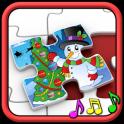 子供のクリスマスのジグソー パズル
