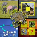 Mémoire de puzzle animaux enfa