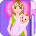 Mother birth newborn