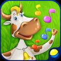 音楽ゲーム:動物とダンス