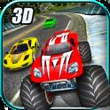 Loco coche vs Monster Racing
