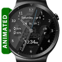 Black Glass HD Watch Face Widget & Live Wallpaper
