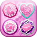 Icon Changer Pink Hearts
