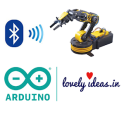 Lovely Robotic Arm ArduinoHC05