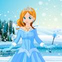 अप पोशाक बर्फ राजकुमारी
