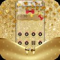 Golden Bowknot Glitter Luxury Theme