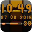 Widget Digi Clock Noir Orange