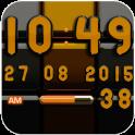 Digi-Uhr Schwarz Orange widget
