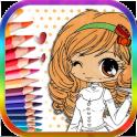 Cute Girl Baby Coloring Book