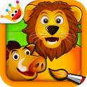 Savanna - Puzzles and Coloring Games for Kids