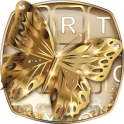 Gold Butterfly Emoji Keyboard
