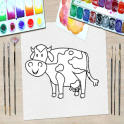 Animal Kid Coloring Pages