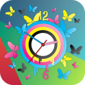 Butterfly Clock Live Wallpaper