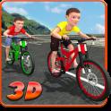 Kids Bicycle Rider Street Race
