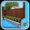 Wood Pool Fence Design