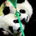Panda Zipper Lock Screen
