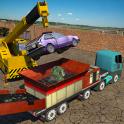 Monster Car Crusher Crane 2019: City Garbage Truck