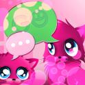 Rosa Katzen theme 4 GO SMS Pro