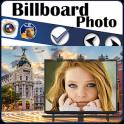 Billboard photo montages frame