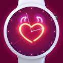 Neon Heart Watch Face