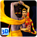 3D Radha-Krishna Rasa-Dance Live Wallpaper