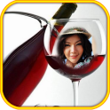 Wine glass Photo Frame Montage