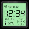 Alarm Clock+Compass+Flashlight
