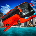 Futuristic Flying Bus Shooting
