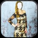 Girl Short Dress Photo Montage