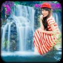 Nature Waterfall Photo Frame