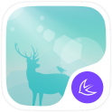 Deer in the forest theme