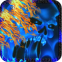 Blue Ghost Skull Fire Live Wallpaper