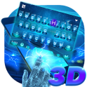 Hologram Blue Keyboard Theme