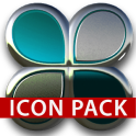 Turquoise silver icon pack HD