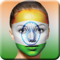 Indian Flag on Face Maker: Independence Day Face