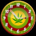 Rasta Weed Clock Widget