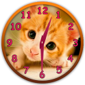 Kittens Analog Clock