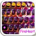 Fire Heart Emoji Keyboard Skin